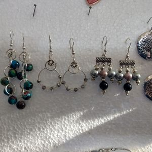 Earrings and free necklace to match.